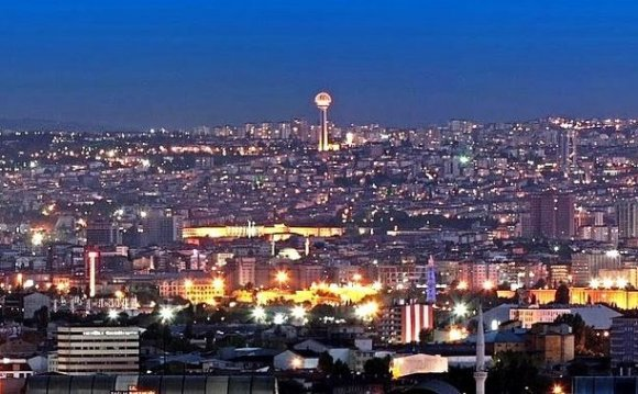 A panoramic view of Ankara in