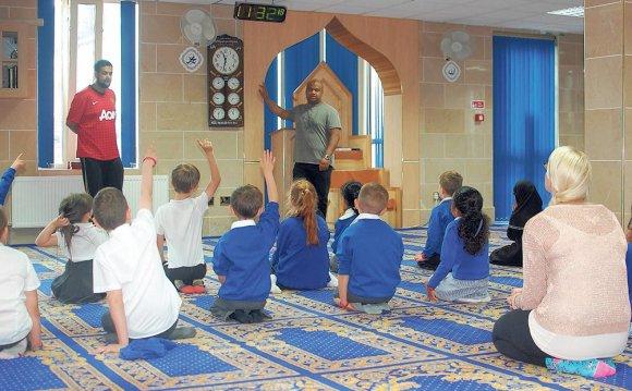 School children take part in