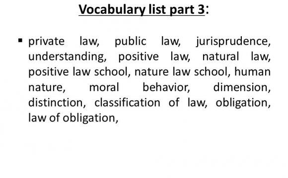 Positive law school