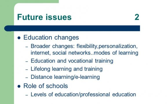 Future issues2 Education