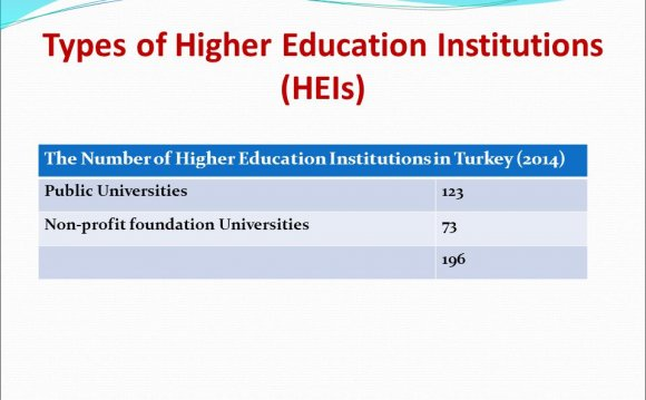 Higher education institutions in Turkey