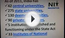 Growth of higher education system in India
