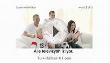 Learn Turkish with Video - Learn the Best Way to Spend