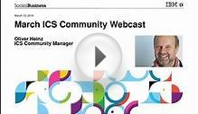March ICS Community Webcast: IBM Notes Traveler: 2013 and